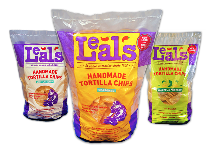 Leal's chip bag trio