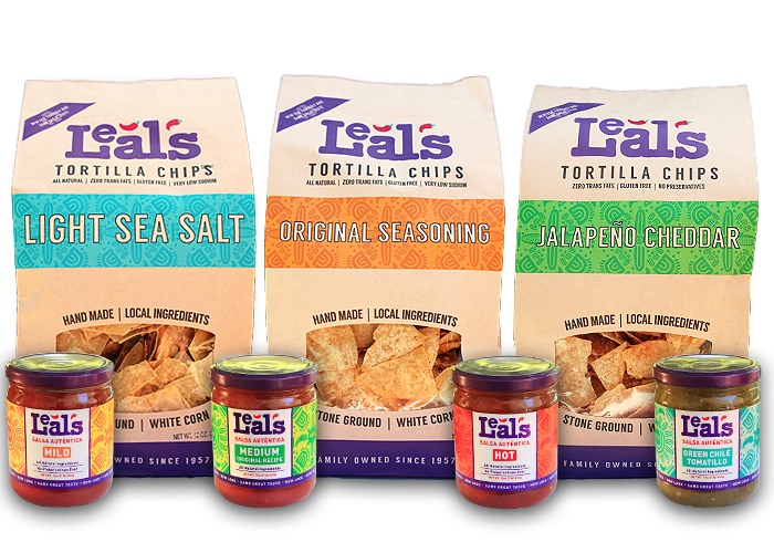 Leal's tortilla chips and salsas image